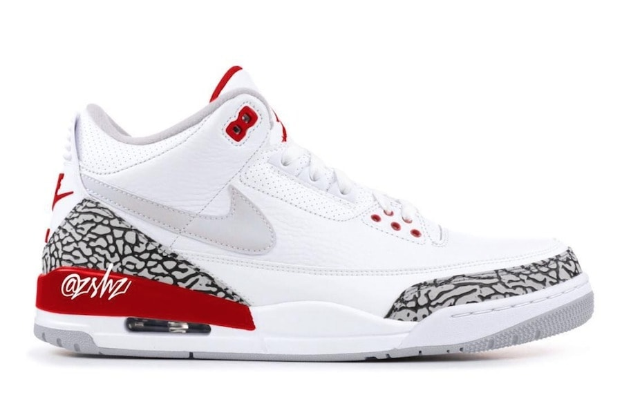 timeless design b6c84 28da1 Air Jordan 3 Tinker Release Date  March 30th, 2019. Price   200. Color   White University Red-Neutral Grey Style Code  CJ0939-100