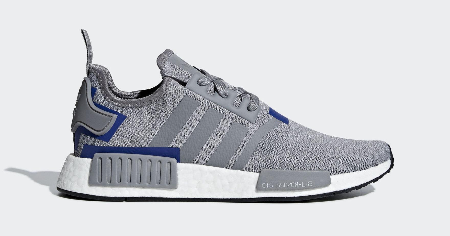 """7abb5d5795ec adidas NMD R1 """"Grey Blue"""" Grey Grey Active Blue February 1"""