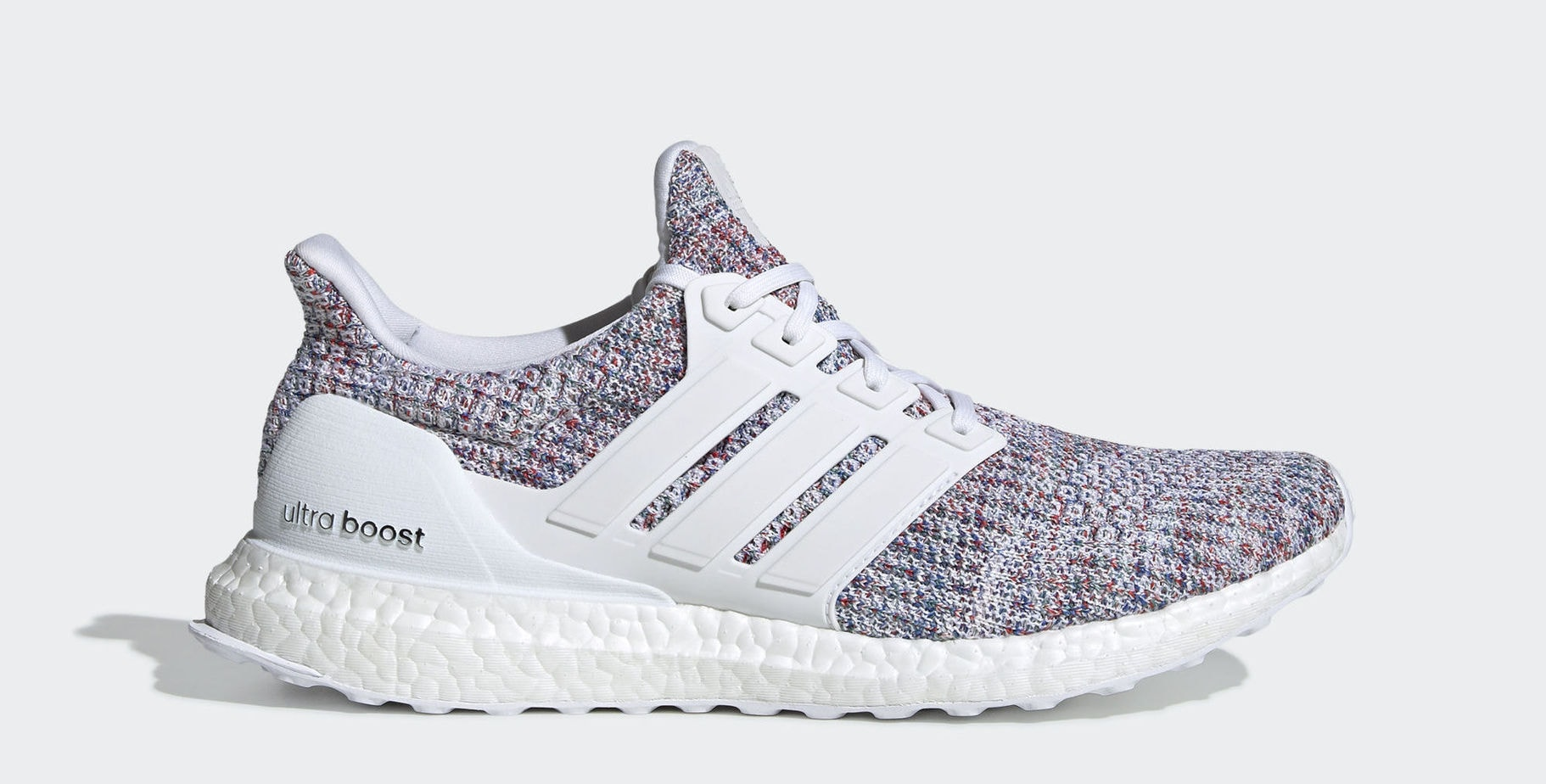 "2047e9e0a2b917 adidas Ultra Boost 4.0 ""White Multicolor"" Cloud White Cloud  White Multicolor January 1"