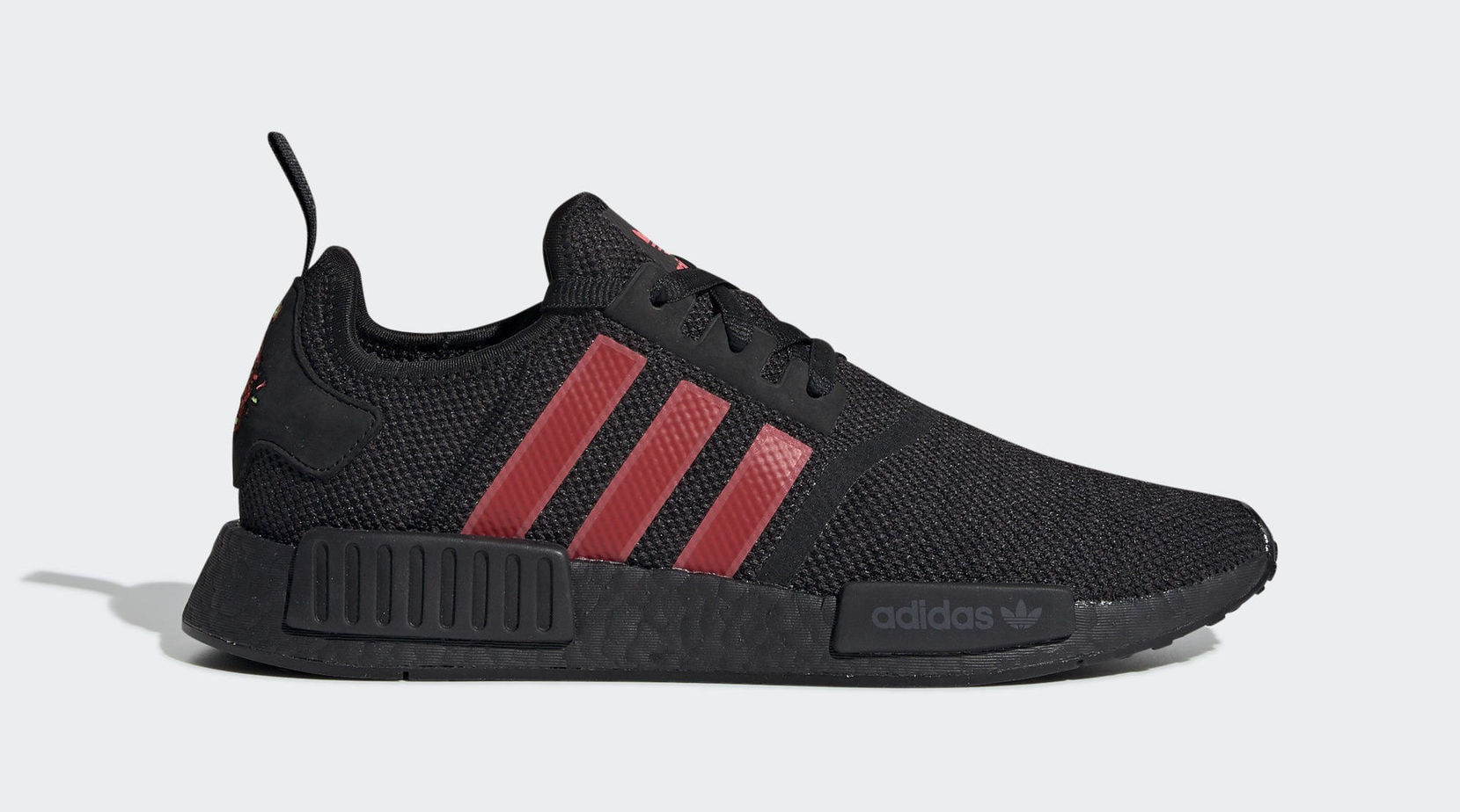 "696983fc7e26 adidas NMD R1 ""Chinese New Year"" Core Black Shock Red Hi-Res Yellow January  19"