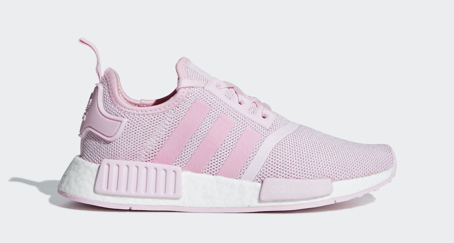 "82f9d4a6bcdb0e Kid s adidas NMD R1 ""Clear Pink"" Clear Pink Light Pink Cloud White January  1"