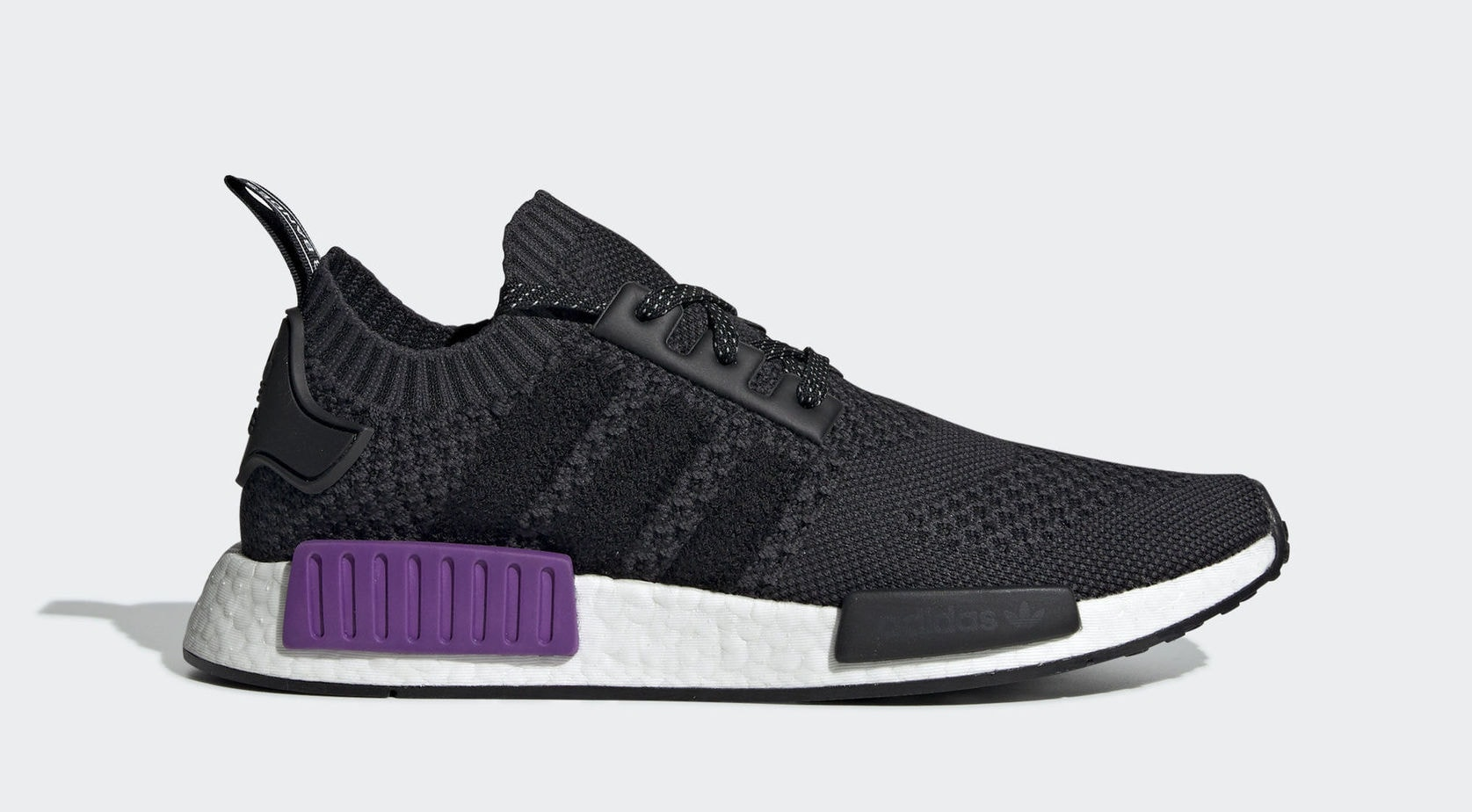 "383c98f2ef6714 adidas NMD R1 PK ""Black Purple"" Core Black Core Black Active Purple January  14"