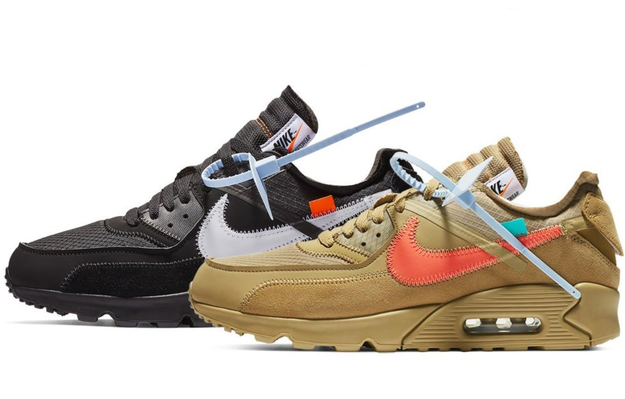 online store 367cd 0d66c Off-White x Nike Air Max 90 Black   Desert Release Info - JustFreshKicks