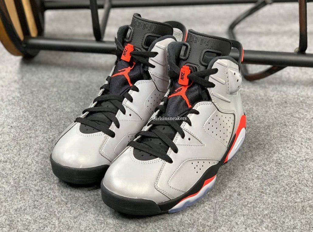 "sports shoes 0d33f 06ac8 Air Jordan 6 ""Reflective Infrared"" Release Date  June 8, 2019. Price   225.  Color  Reflective Silver Black-Infrared Style Code  CI4072-001"