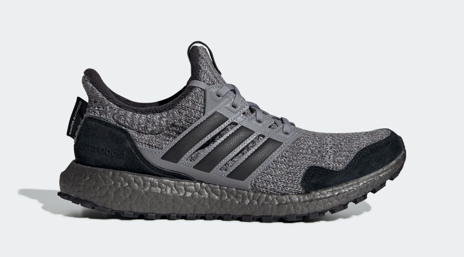 "bec83c8e8 GOT x adidas Ultra Boost ""House Stark"" Grey Three Core Black Off White March  22"