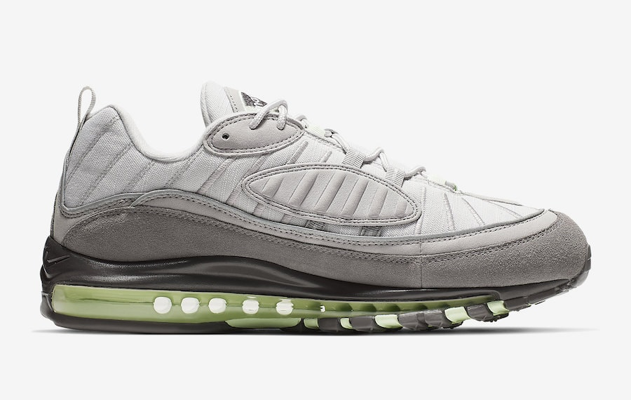sports shoes 3e65a 1bb1d Nike Air Max 98. Release Date  Coming Soon Price   160. Color  Vast Grey Fresh  Mint-Atmosphere Grey Style Code  640744-011