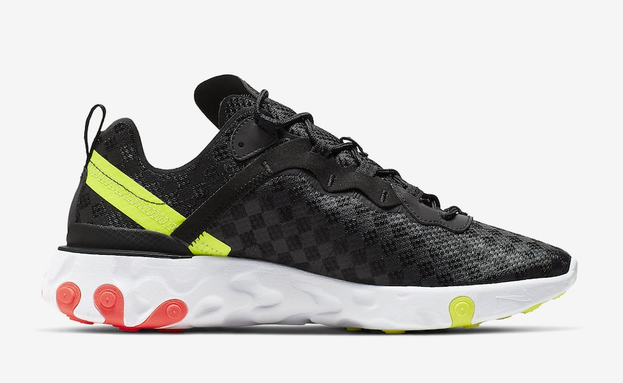 new arrival 03adc 814f0 Nike React Element 55. Release Date  Spring 2019. Price   130. Color  Black Flash  Crimson-Hyper Crimson-Volt Style Code  CJ0782-001