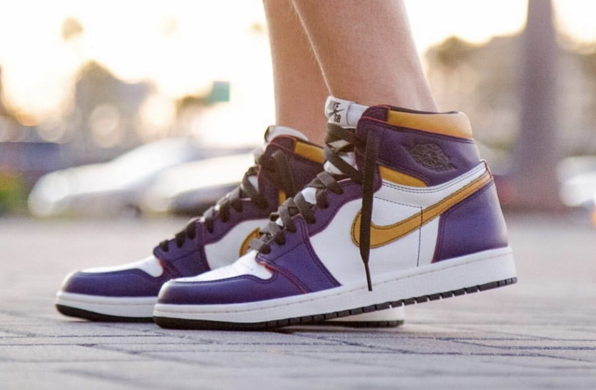 f25132b4b7c0e6 Nike SB x Air Jordan 1 Retro High OG Release Date  April 2019. Price   160.  Color  Court Purple Sail-University Gold-Black Style Code  CD6578-507