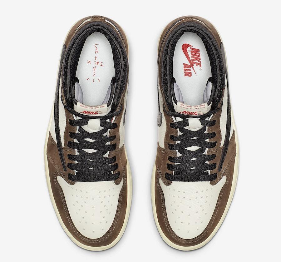 "fdd030f6cda Travis Scott x Air Jordan 1 High OG ""Cactus Jack"" Release Date  April 2019.  Price   160. Color  Sail Dark Mocha University Red-Black Style Code   CD4487-100"