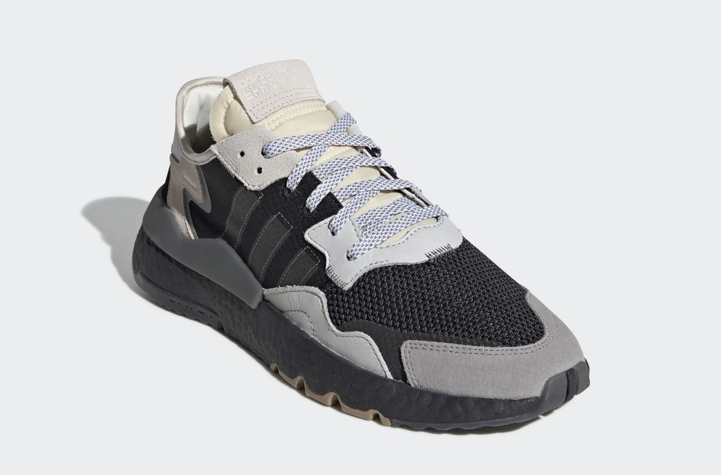 adidas Nite Jogger Release Date: February, 2019. Price: $140. Color: Core  Black/Carbon/FTWR White Style Code: BD7933