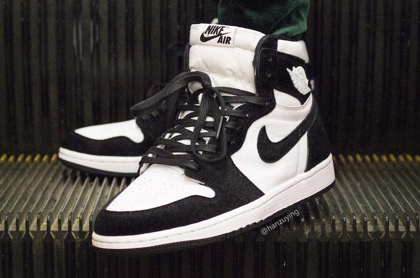 02e7139075f6d2 Air Jordan 1 Retro High OG Black   White On Feet - JustFreshKicks