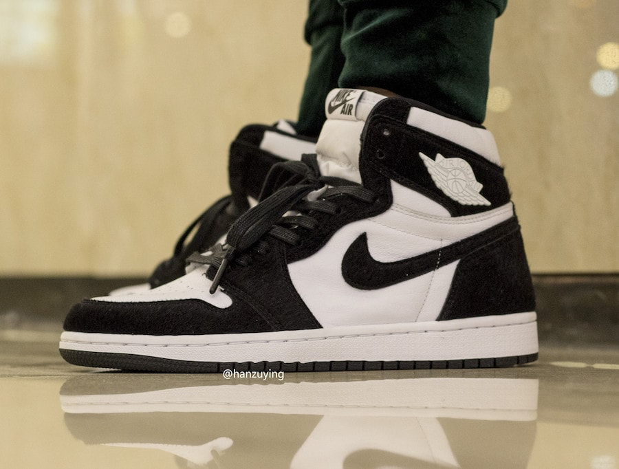 2f3be27ea7f00f Air Jordan 1 Retro High OG Black   White On Feet - JustFreshKicks