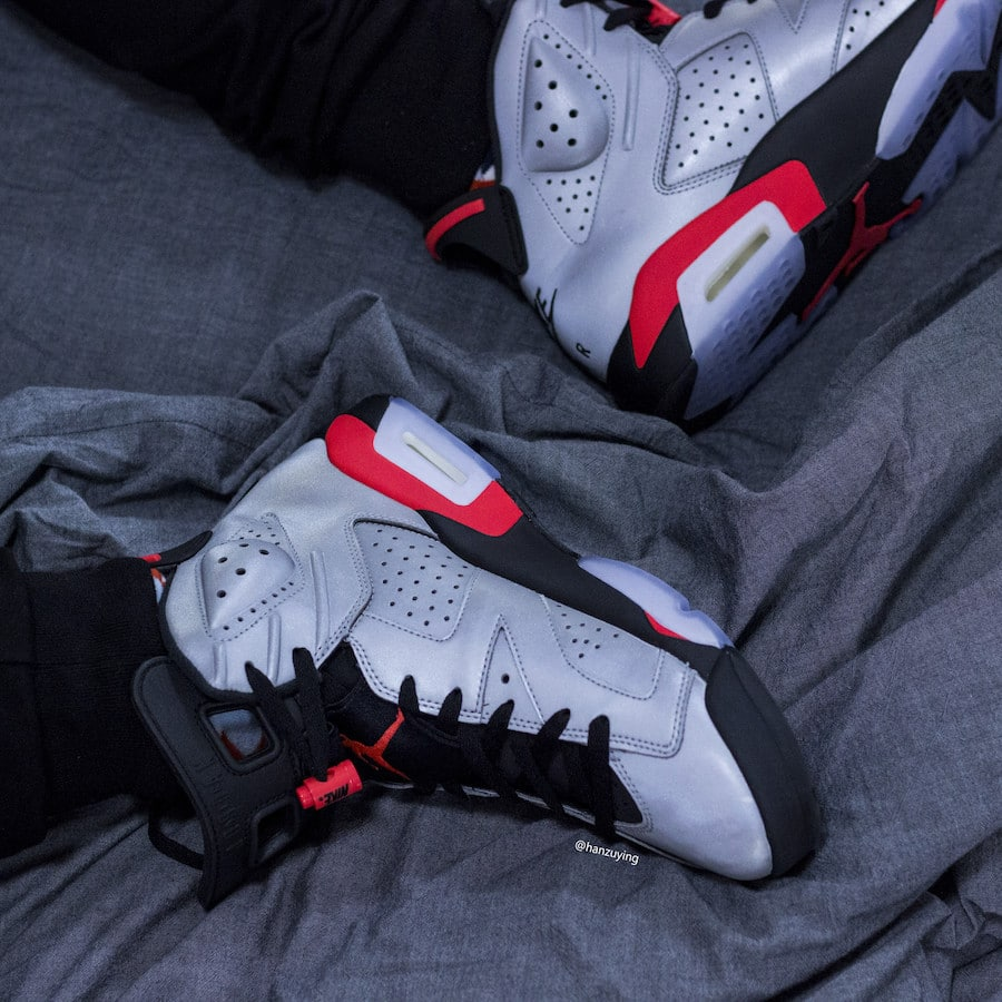 06cb58d20794 The post The Reflective Air Jordan 6 JSP Shows Off Nike Air Branding on the  Heel appeared first on JustFreshKicks.