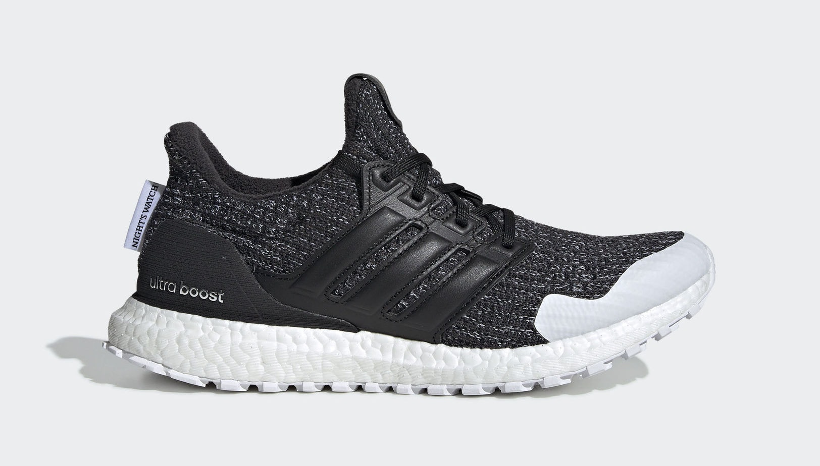 "27b456543e1e1 GOT x adidas Ultra Boost ""Night s Watch"" Core Black Core Black Cloud White  March 22"