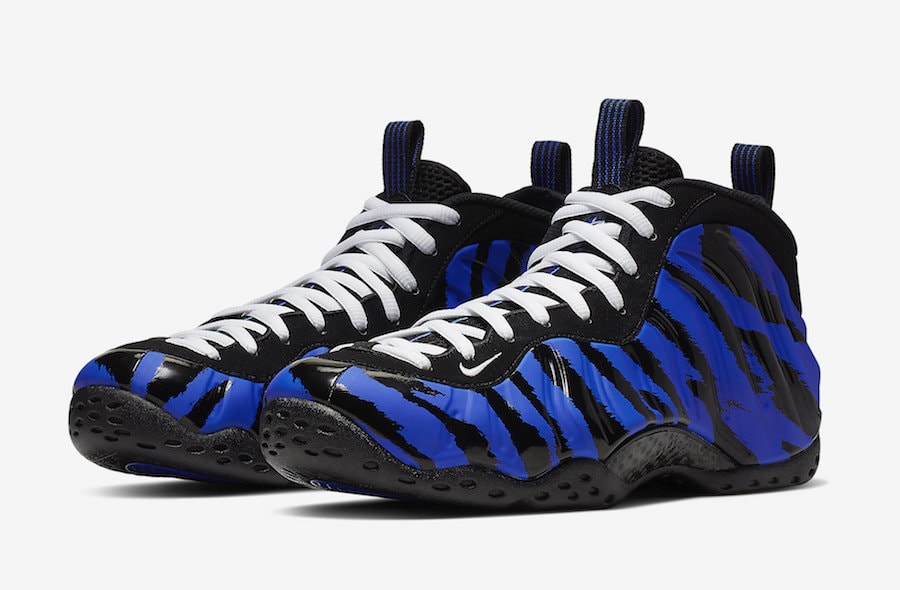 """new concept 33e54 1292e Nike Air Foamposite One """"Memphis Tigers"""" Release Date  March 22nd, 2019.  Price   230. Color  Racer Blue White-Black Style Code  BV8161-400"""