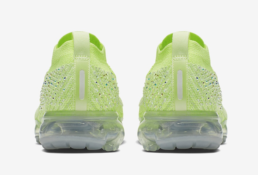 5221279780eb Nike and Swarovski Debut a Crystal-Studded Air Vapormax Flyknit in Volt