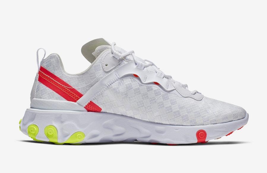 new arrival 0dbb7 b4321 Nike React Element 55. Release Date  Spring 2019. Price   130. Color  Black Flash  Crimson-Hyper Crimson-Volt Style Code  CJ0782-001