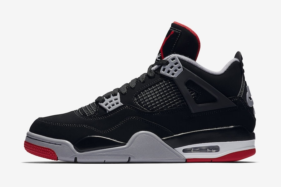 "the latest 7cd87 5eae4 Release Date Details. Air Jordan 4 ""Bred"" Color  Black Cement ..."