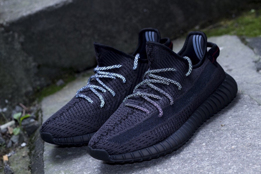 "While each drop consists of different colorways and designs, the newest Yeezy  350 V2 ""Black"" ..."