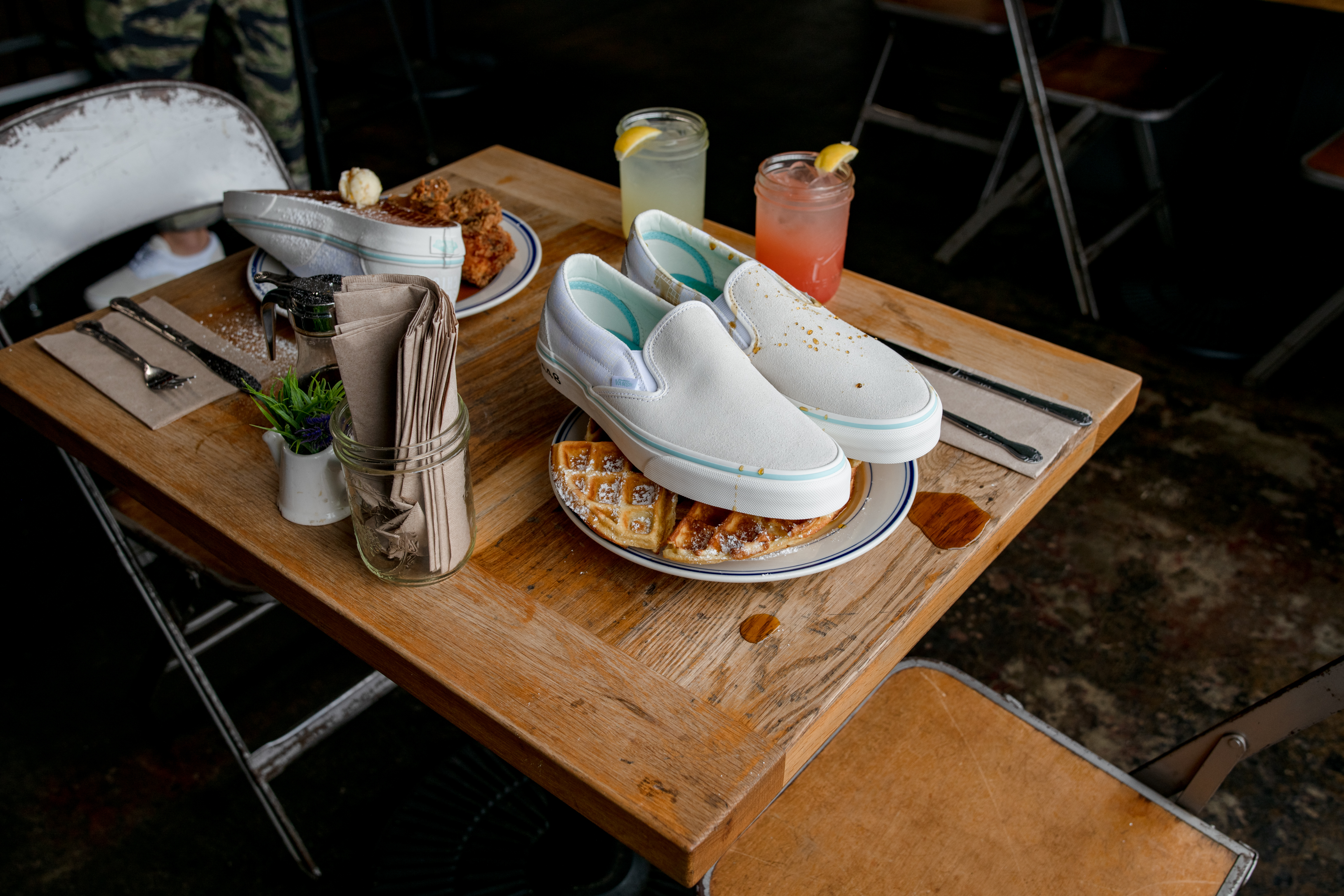 2d1ba5557348 Vans and Sweet Chick Team Up for a Waffle-Inspired Slip-on   Era