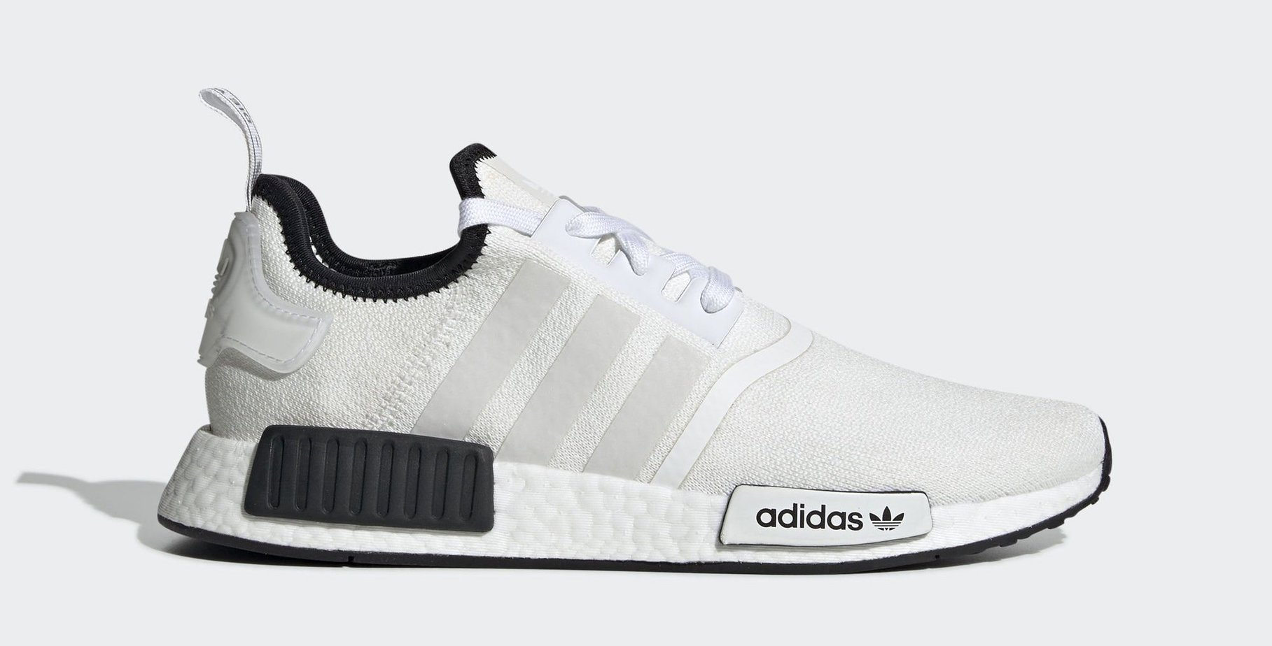 "best service fbdf0 73d93 adidas NMD R1 ""Cloud White"" Cloud White Cloud White Core Black April 1, 2019"