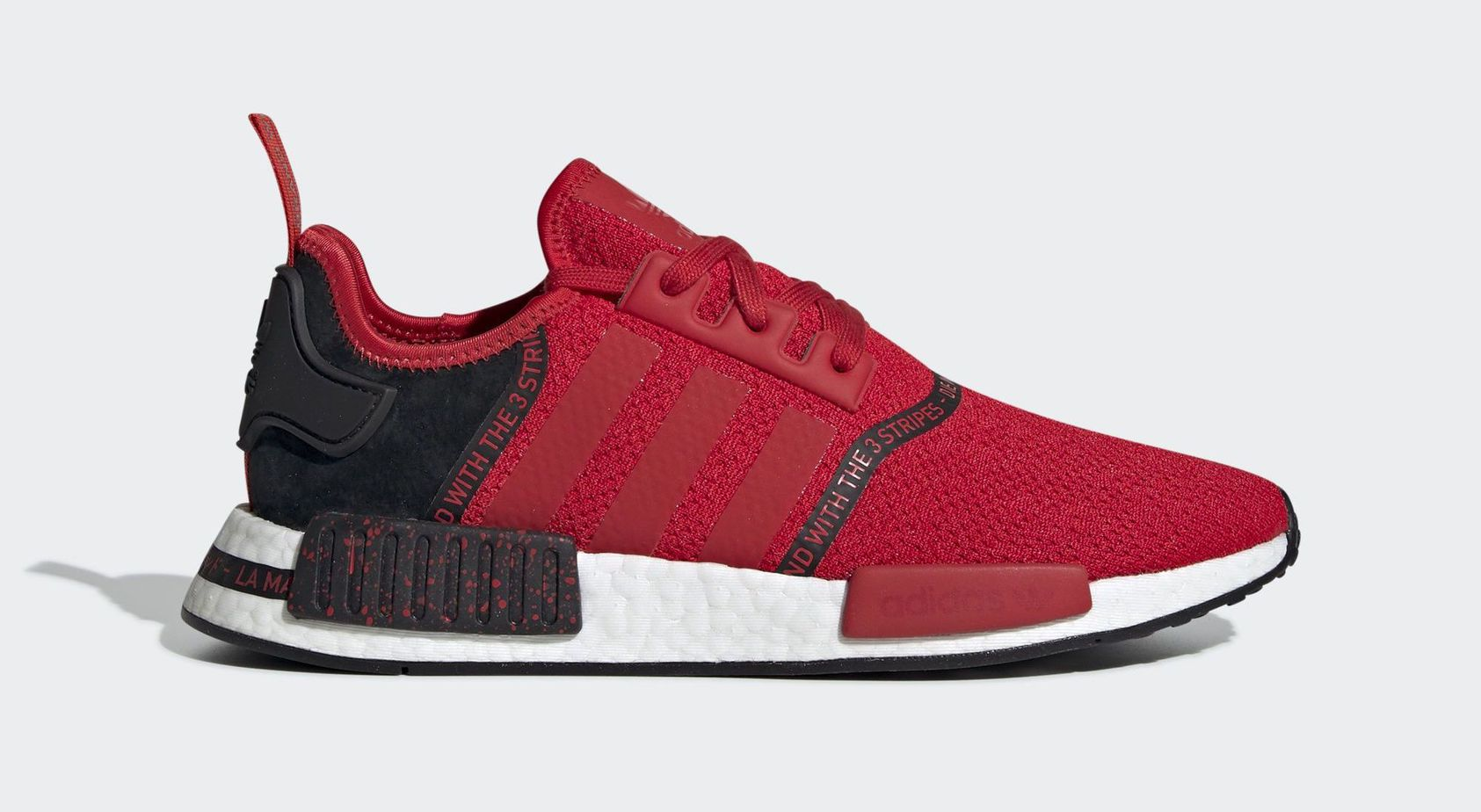 "huge selection of 3b79f dfda2 adidas NMD R1 ""Scarlet Speckle"" Cloud White Cloud White Core Black April 4,  2019"