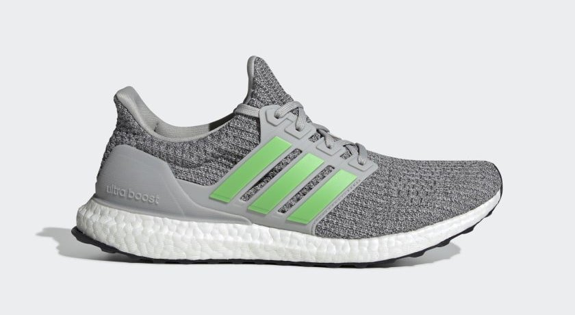 """new product 3c2c5 4e4b7 adidas Ultra Boost 4.0 """"Shock Lime"""" Grey Two Shock Lime Grey Four April 7,  2019"""