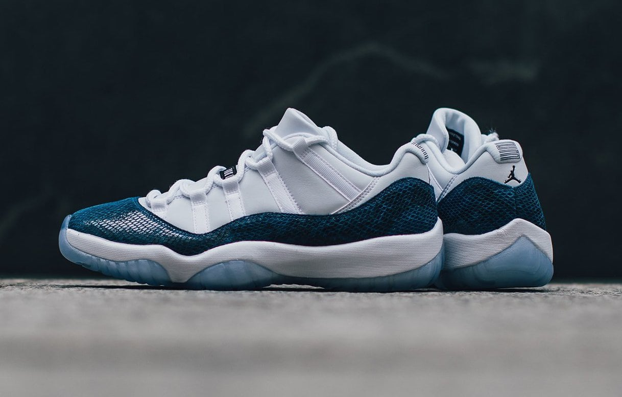 "newest c0032 e4581 The Air Jordan 11 Low ""Blue Snakeskin"" Is Now Available"
