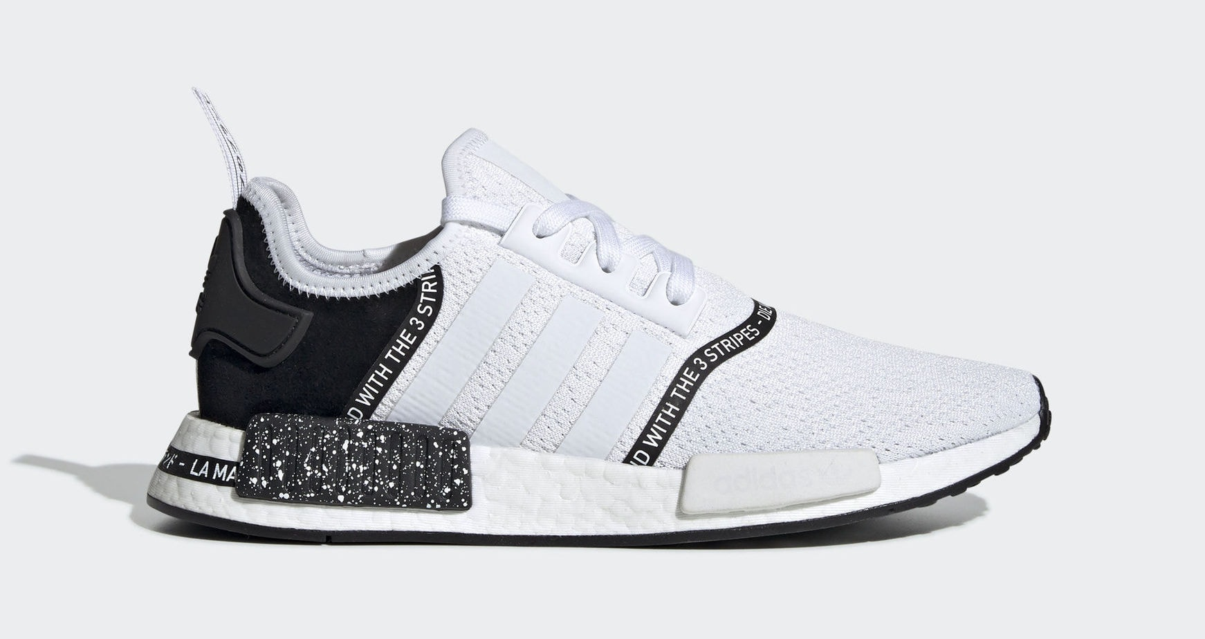 "huge selection of d706e abba7 adidas NMD R1 ""Black Speckle"" Cloud White Cloud White Core Black April 4,  2019"