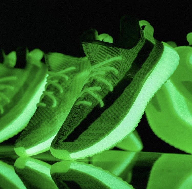"""16aea6e05af9f ... adidas Yeezy Boost 350 V2 GID """"Glow"""". Check them out below and stay  tuned for updates as the release date is quickly approaching. Images Via   YeezyMafia ..."""