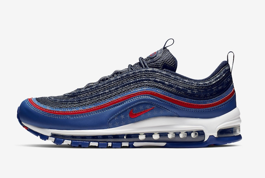19f0375791e The post Nike Air Max 97 Celebrates America with a USA Themed Colorway  appeared first on JustFreshKicks.