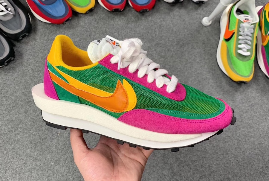 brand new 477d2 5fd20 The post Images Emerge of New Sacai x Nike LDV Waffle in Bright Colors appeared  first on JustFreshKicks.