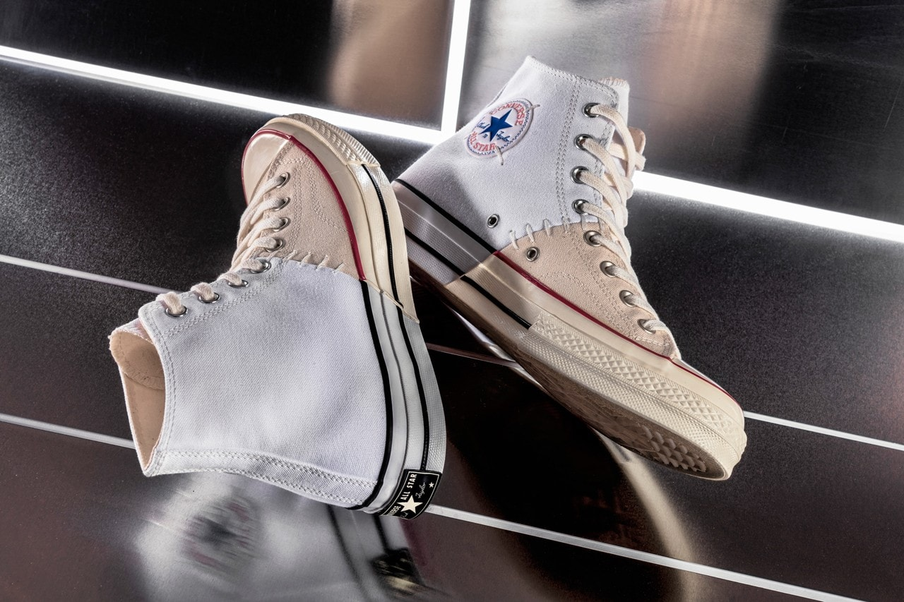 f1d9cb8f902d ... this time in partnership with Italy s SlamJamSocialism. Check out the  two pairs of the Converse Chuck Taylor All Star 70s split and sewn back ...
