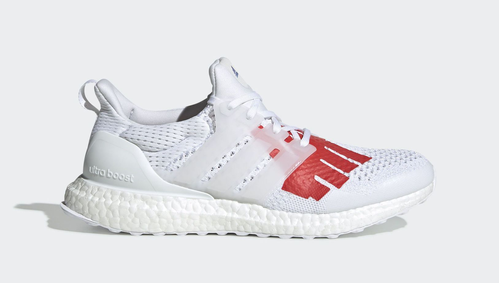 "8023ec25fef Undefeated x adidas Ultra Boost ""USA"" Ftwr White Ftwr White Red Release  Date  2019"