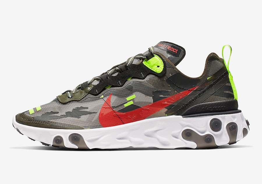 timeless design d81f5 8e150 Nike s React cushioning is slowly taking over for the brand s other  offerings. This month, the fan-favorite React Element 87 silhouette gets  its wildest ...