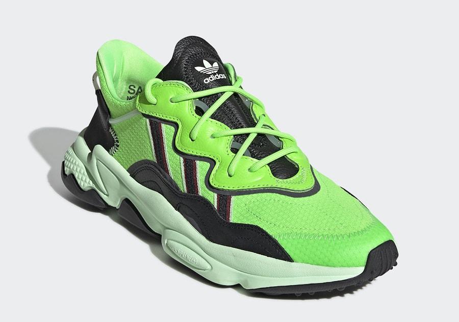 b81808753560 adidas Ozweego adiPRENE Neon Green Release Date - JustFreshKicks