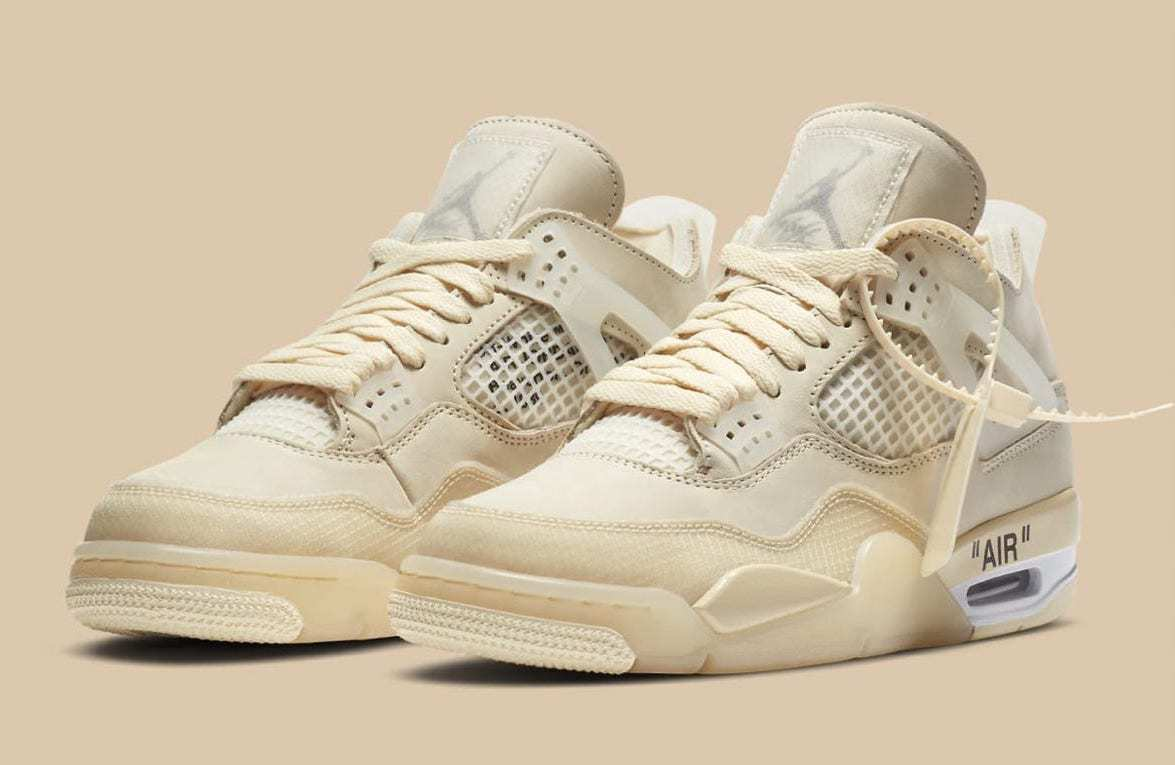 """The Off-White Air Jordan 4 """"Sail"""" Releases This Weekend ..."""