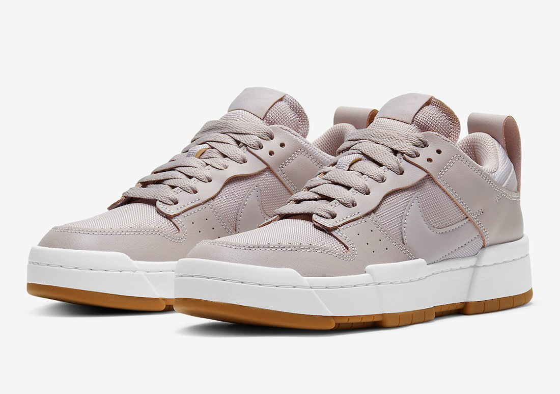 The Nike Dunk Low Disrupt Opts for a Pink Upper and Gum Outsoles