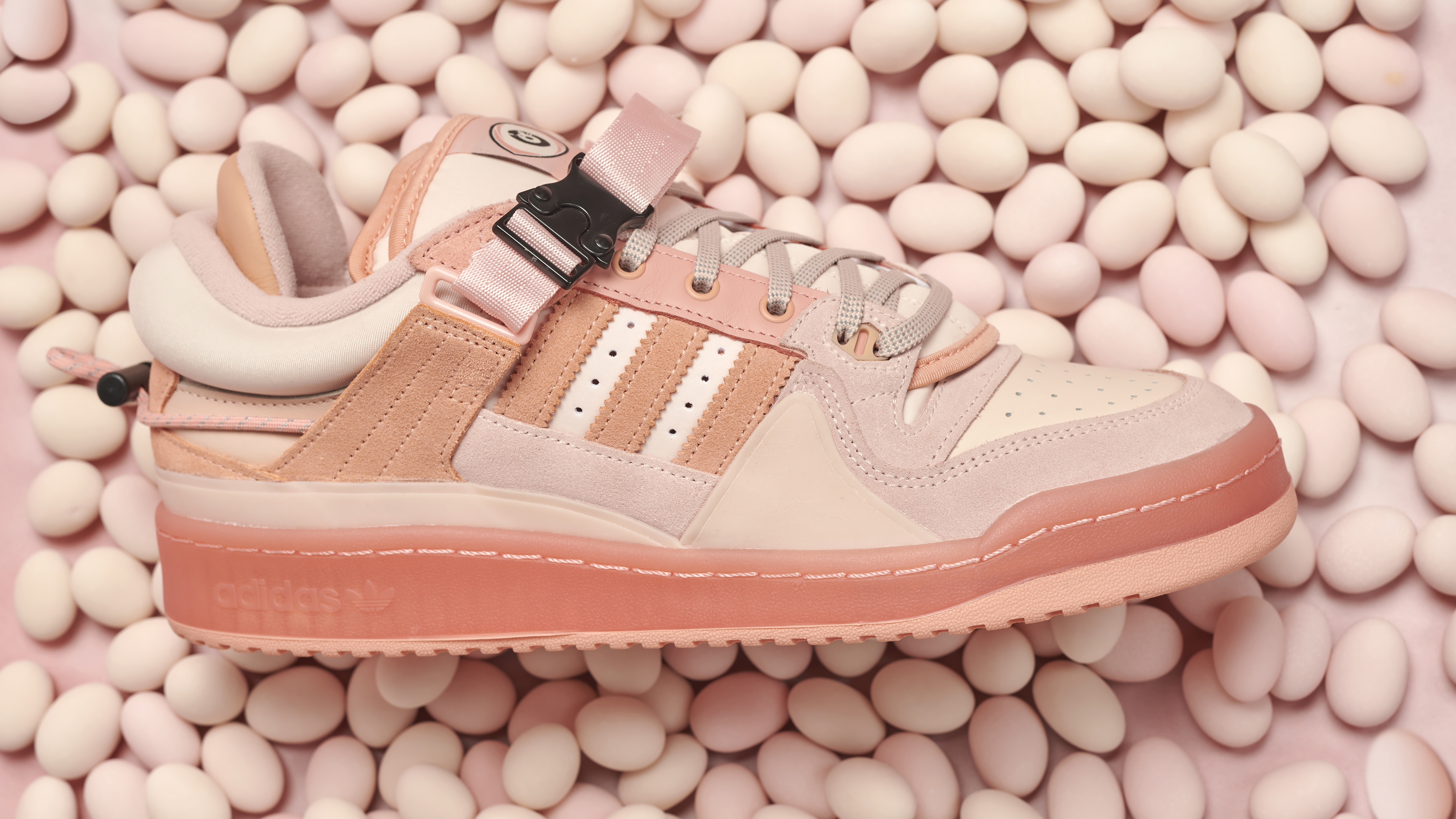 The Pink Bad Bunny x adidas Forum Low Releases on Easter