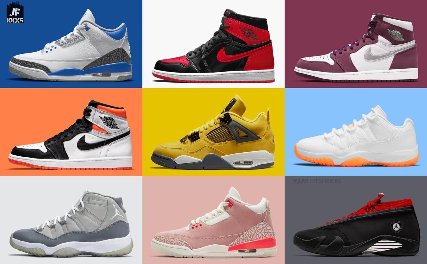 Updated Air Jordan Sneaker Releases for 2021 - JustFreshKicks