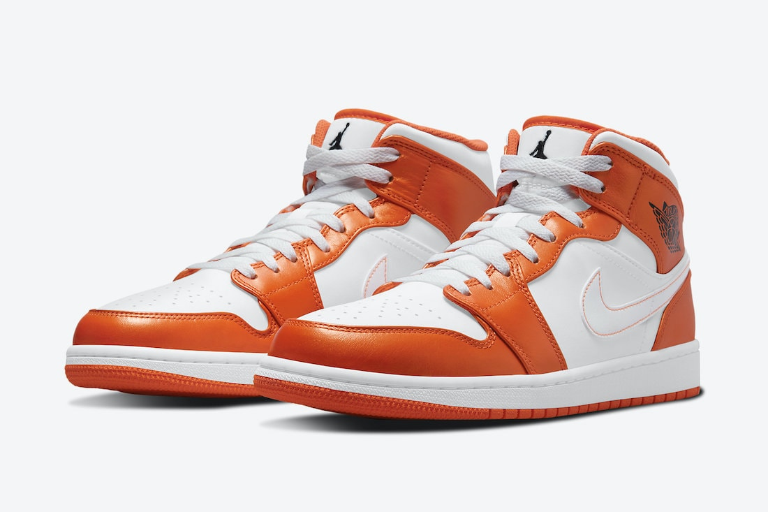 Air Jordan 1 Mid White Orange Release Details - JustFreshKicks