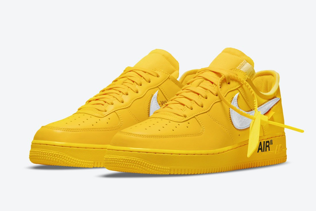 """Official Images of the Off-White x Nike Air Force 1 Low """"University Gold"""""""