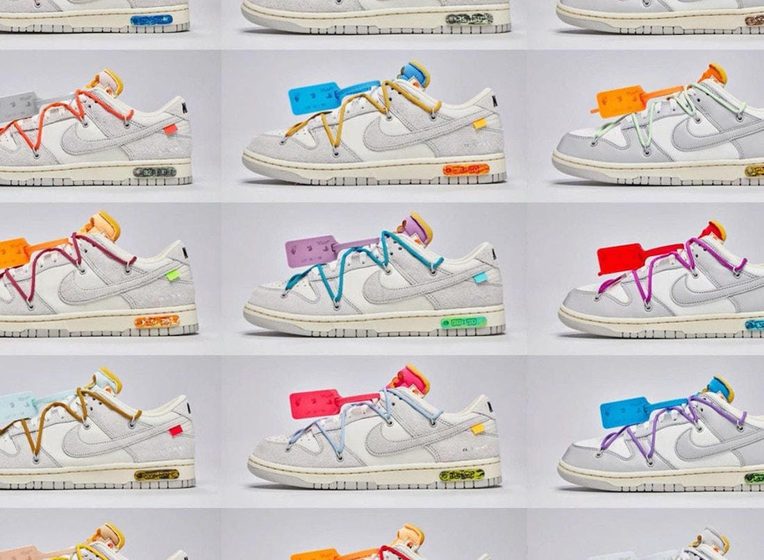 Nike Reveals All 50 of the Off-White x Nike Dunk Low Collection