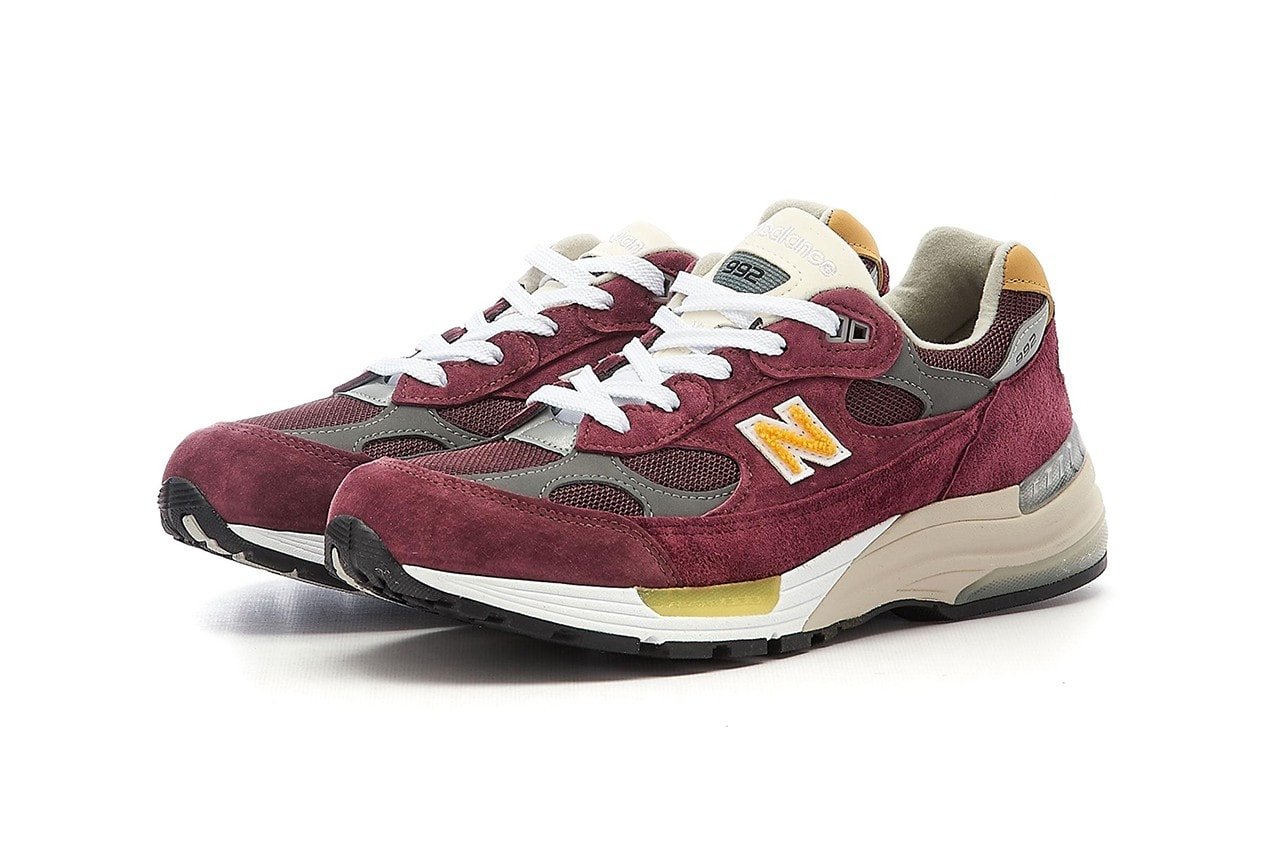 New Balance's Beloved 992 Returns in Burgundy and Gold Hues