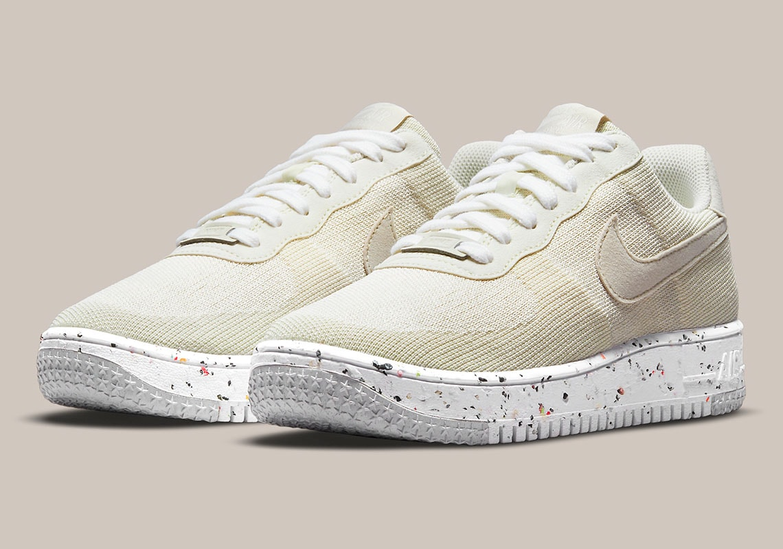 """Nike Adds Neutral """"Sail"""" Tones to the Air Force 1 Crater Flyknit"""