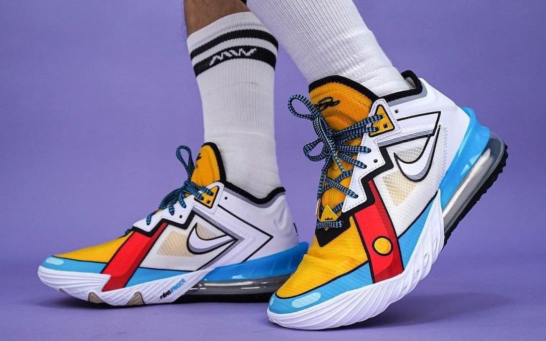 "First Look: Nike LeBron 18 Low ""Stewie Griffen"""