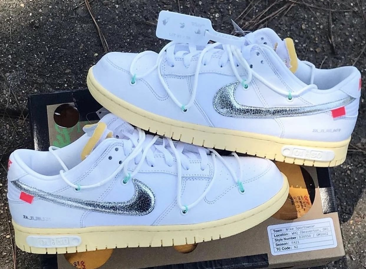 The Off-White x Nike Dunk Low Collection Releases This Month