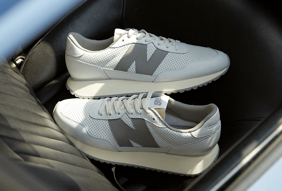"""size? Tees Up a Clean Neutral Grey """"Summer-Ready"""" Color Scheme of the New Balance 237"""