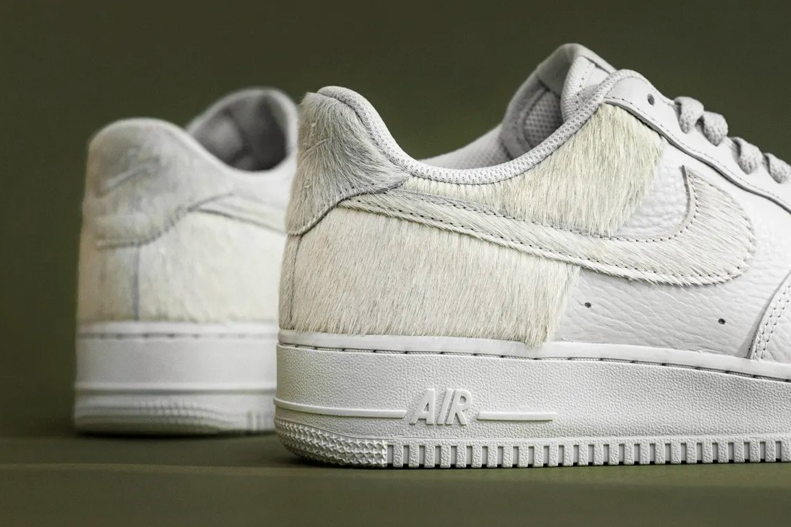 Nike's Air Force 1 Low Surfaces With White Pony Hair Paneling