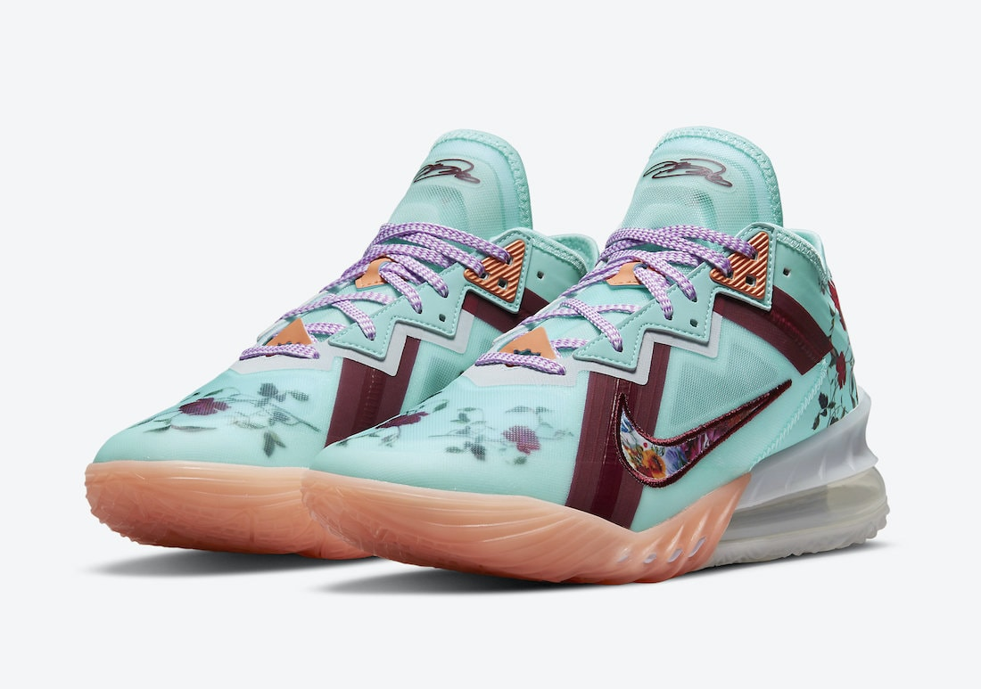 Lebron James Releasing a Floral Nike LeBron 18 Low